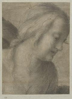 Hoofd van Maria, in een Aanbidding