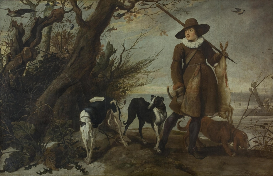 Hunter with Dogs in a Landscape