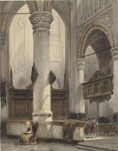 Interieur van de Nieuwe Kerk te Delft