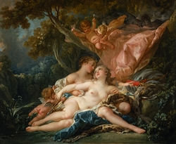 Jupiter in the Guise of Diana, and the Nymph Callisto