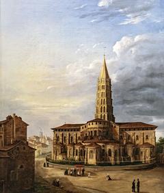 La basilique Saint-Sernin, vue du chevet