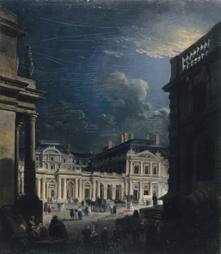 La Place du Palais-Royal, au clair de lune