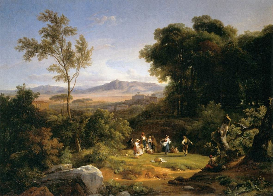 Landscape inspired by the View of Frascati