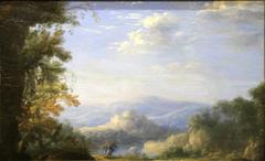 Landscape with Jacob wrestling the angel