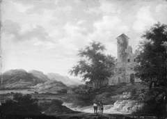 Landscape with Mountains and Ruins