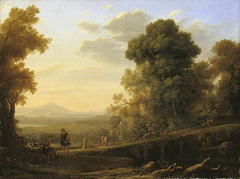 Landscape with Rebecka taking leave of her father