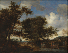 Landscape with Travellers Watering their Horses