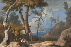 Landscape with two Praying Monks