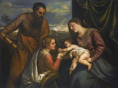Madonna and Child with Saints Luke and Catherine of Alexandria