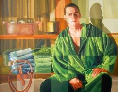 Man in Jaccuzzi