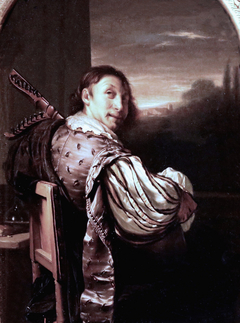 Man playing the Theorbo