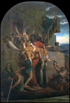 Martyr Chrétien descendu dans une barque