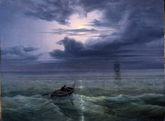 Moon night on the Gulf of Salerno