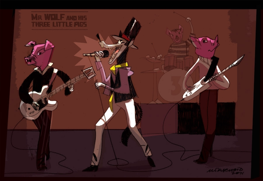 Mr Wolf and his Three Little Pigs