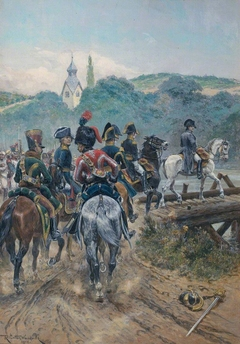 Napoleon Crossing the Bridge to Lobau Island