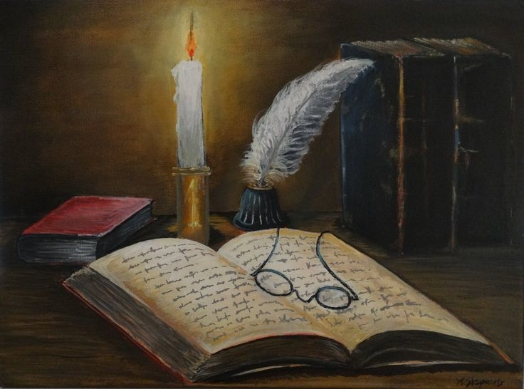 Old books with candle II