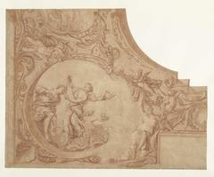 Ontwerp voor een hoekstuk van een plafond met Jason en Medea