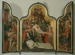 Passion triptych in honor of Albrecht Adriaensz. van Adrichem (ca. 1474-1555), magistrate of Haarlem