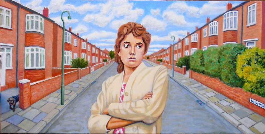 'Pauline from Fenham', (2012), Oil on Linen, 60 x 120 cm.