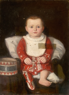 Portrait of a Child with a Drum