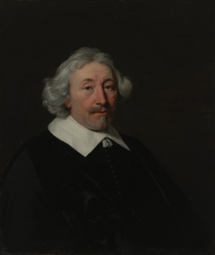 Portrait of a gentleman with white hair