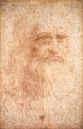 Portrait of a man in red chalk (Leonardo)