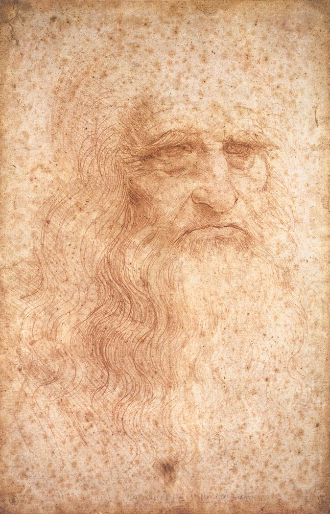 Portrait of a man in red chalk (Leonardo)