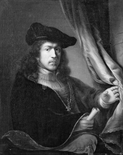Portrait of a Man with a Hat and a Collar of an Order of Chivalry