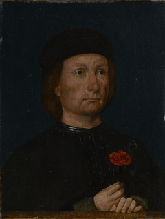 Portrait of a Man with a Pink