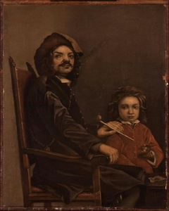 Portrait of a Seated Man with a Boy