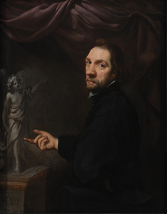 Portrait of Andries Rademaker, Notary, Displaying a Statuette
