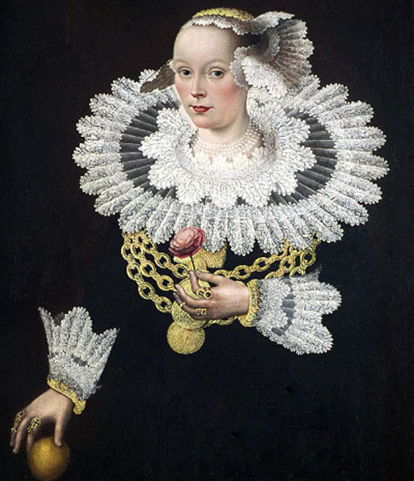 Portrait of Anna Rosina Marquart, née Tanck, wife of Johann Marquard, mayor of Lübeck