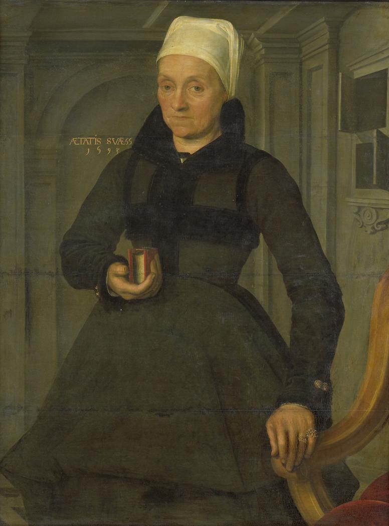 Portrait of Lysbeth Hendriksdr (1536-after 1603). Wife of Bartholomeus van der Wiere