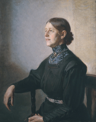 Portrait of the Artist's Wife, the Painter Anna Ancher