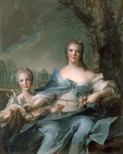 Portrait of the Duchess of Parma and her Daughter Isabelle