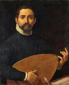 Portrait of the lute player Giulio Mascheroni