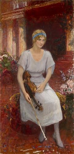 Portrait of the Violinist Cecilia Hansen