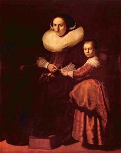 Portraits of Susanna van Collen and her Daughter Anna