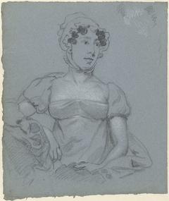 Portretstudie van een onbekende vrouw