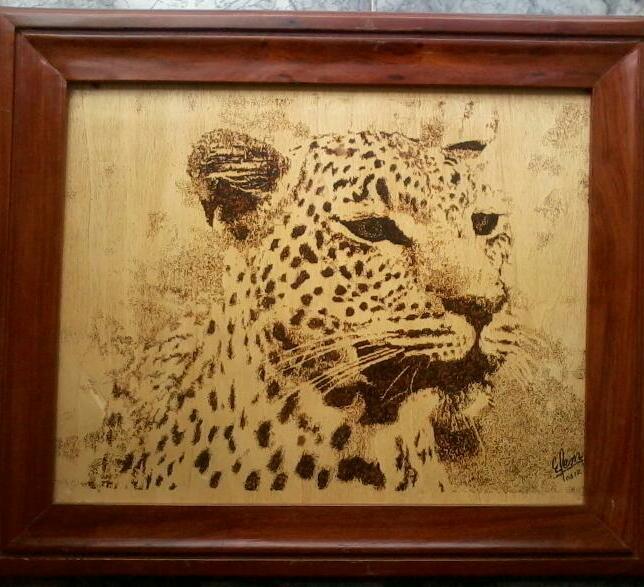 Potrait of a leopard