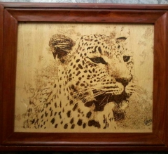 Potrait of a leopard