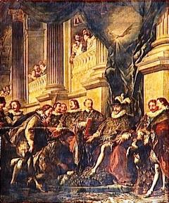 Premier chapitre de l'ordre du saint Esprit tenu par Henri IV dans l'église du couvent des Grands Augustins à Paris