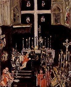 Prinzregent Luitpold am Altar kniend mit Gefolge