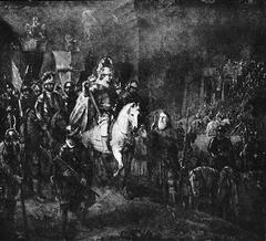 Quintus Fabius Maximus visiting his sons at the camp of Suessa
