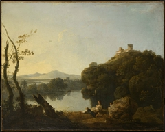 River Landscape with a Boy Fishing (On the Arno)
