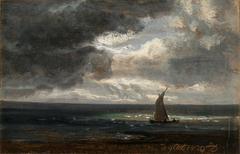 Sailing-boat under Storm-clouds