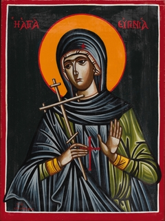 Saint Eugenia - Egg Tempera on wood