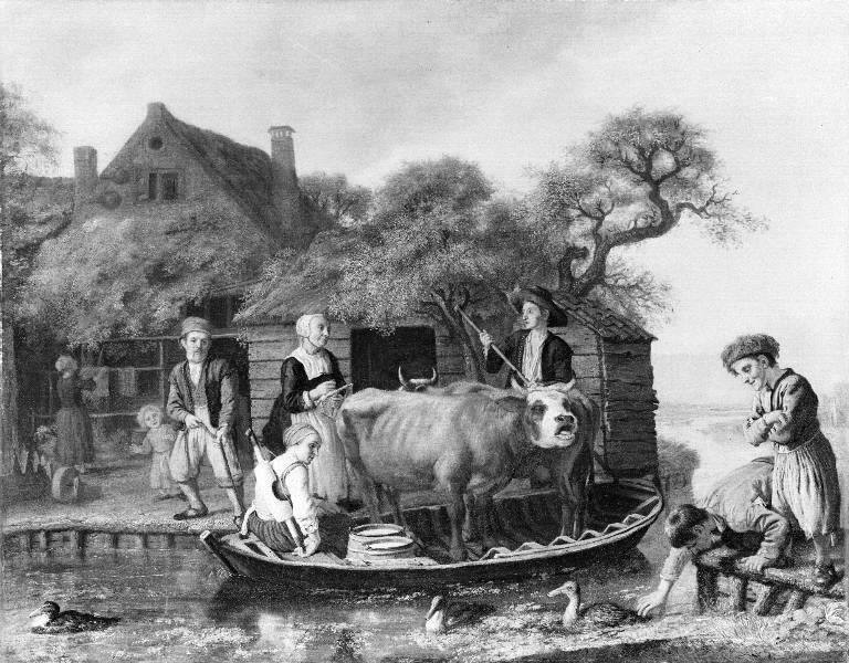 Scene outside a Dutch Farm