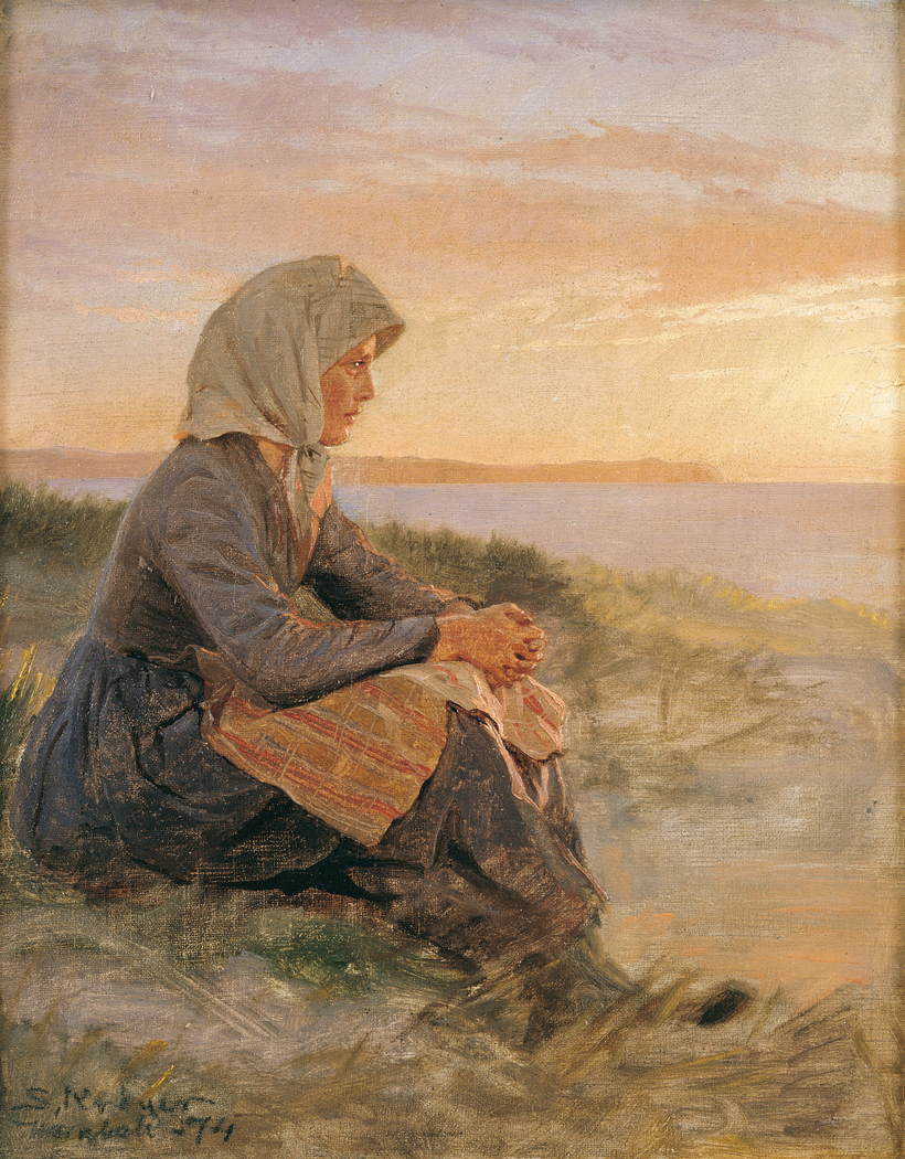 Seated Fisherman's Daughter, Hornbæk