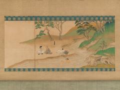 Section of Jin'o-ji Engi Emaki (Konin Shonin E-den)